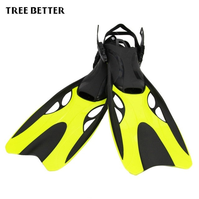 Silicone Adjustable Swim Fins for Adult Swimming