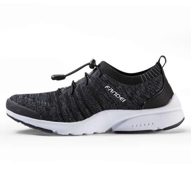 Slip-On Lace-Clip Breathable Mesh Women's Running Shoe