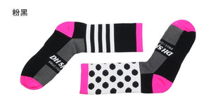Patterned Professional Breathable Moisture-Wicking Cycling Socks