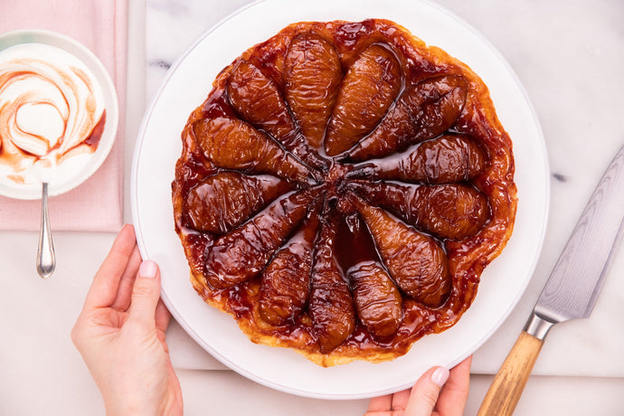Wine Poached Pear Tarte Tatin Recipe