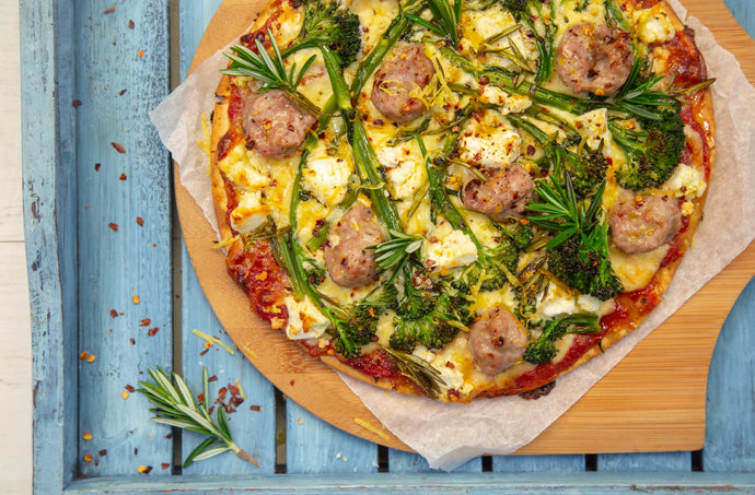 Broccoli & Pork Sausage Gluten Free Pizza Recipe