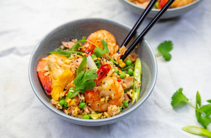 Leftover Christmas Ham, Prawn and Egg Fried Rice Recipe