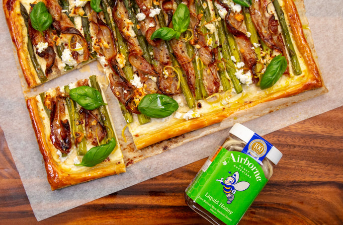 Summer Streaky Bacon & Asparagus Tart Recipe