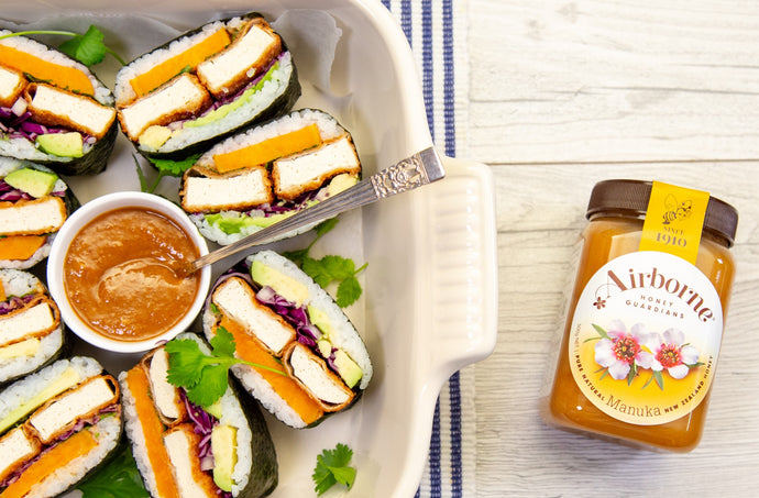 Tofu Sushi Sandwich with Tahini Sauce Recipe