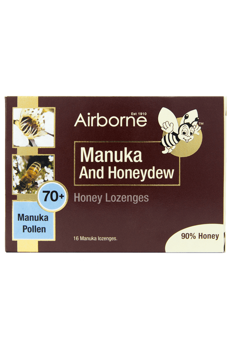 Airborne Manuka and Honeydew Lozenges - Front View