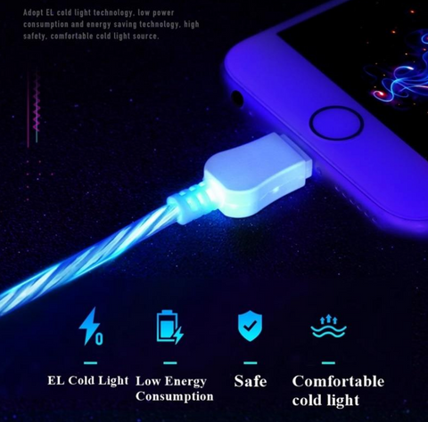 Cool Night Glow USB Charger Cable - Shop Texh