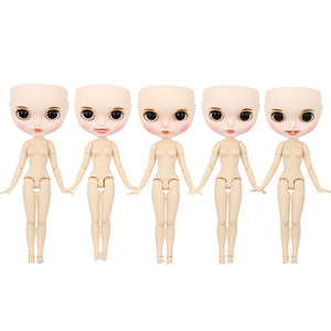 1/6 bjd factory Blyth doll bald head customized matte face white skin
