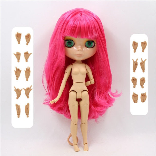 Blyth doll white natural tan translucent dark super black 7 skin joiny body 30cm