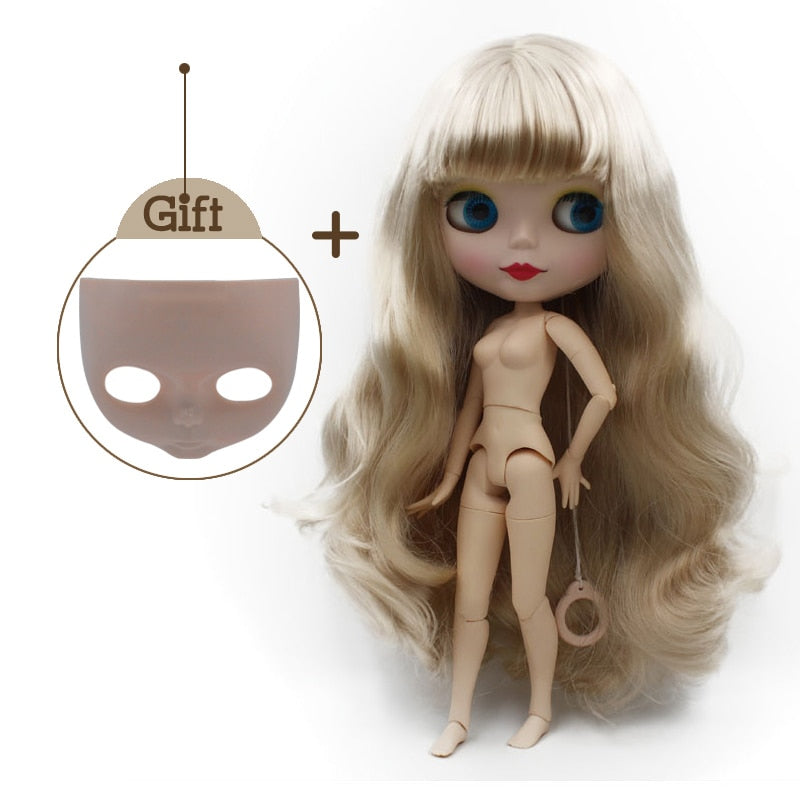 Neo Blyth Doll Body Nude Customized Matte Face Dolls 12 inches
