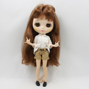 Blyth doll cool suit handsome clothes shorts white shirt jeans