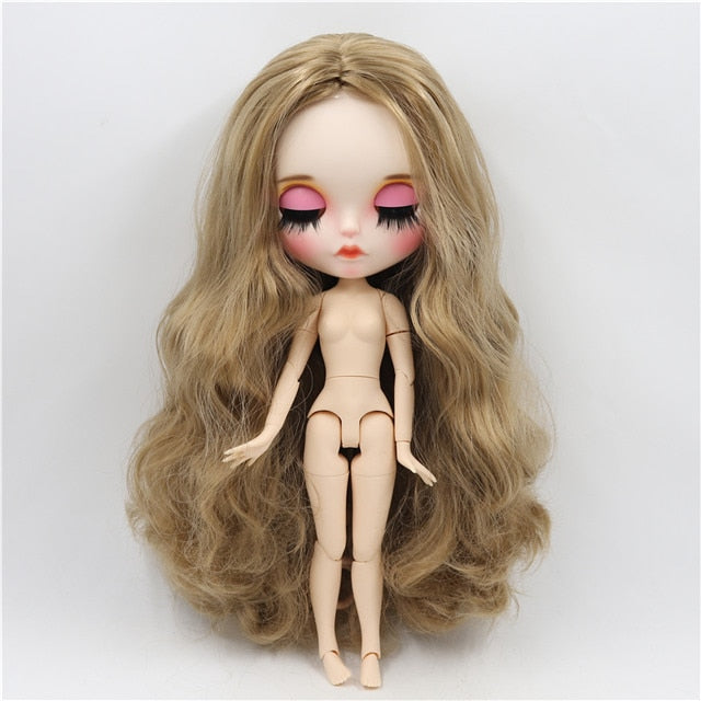ICY 1/6 bjd factory blyth doll customized doll white skin joint body new matte face Carved lips 30cm BL3227