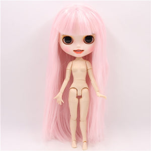 ICY factory blyth doll 1/6 bjd customized face custom doll white skin joint body matte face with teeth eyebrow, 30cm BL2352