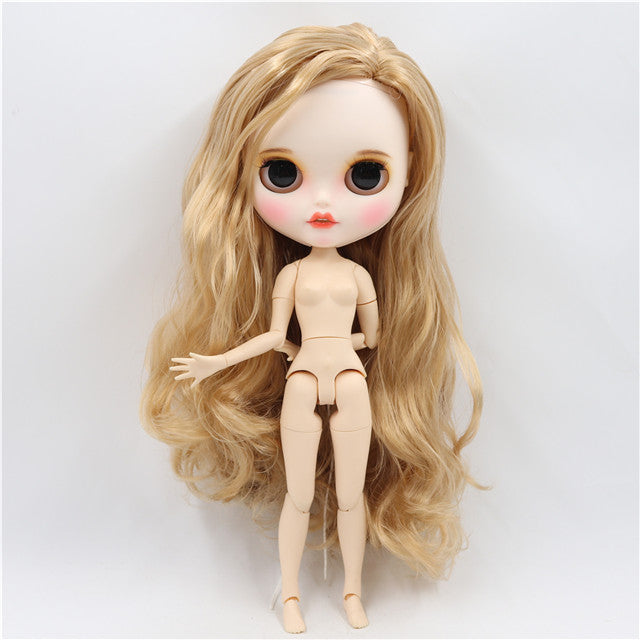 ICY factory blyth doll 1/6 bjd customized face custom doll white skin joint body new matte face with teeth eyebrow 30cm
