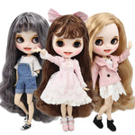 ICY factory blyth doll 1/6 bjd customized face white skin joint body new matte face with teeth, 30cm