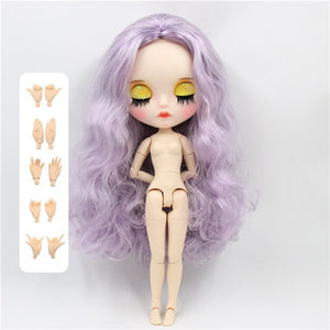 factory blyth doll 1/6 bjd joint body white skin Carved lips Matte face with eyebrow customized face sleepy eyes 30cm BL1049