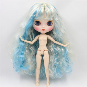 factory blyth doll 1/6 bjd white skin joint body, new matte face Carved lips with eyebrow customized face 30cm