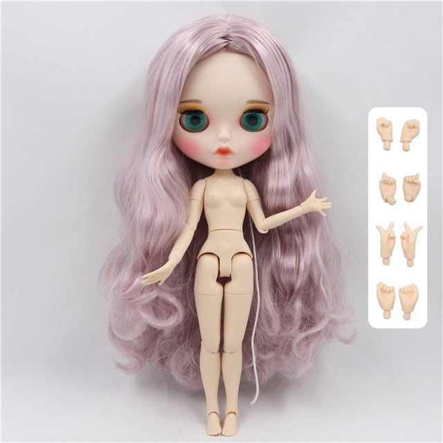 factory blyth doll 1/6 bjd white skin joint body, new matte face Carved lips with eyebrow customized face, 30cm BL2352/1049
