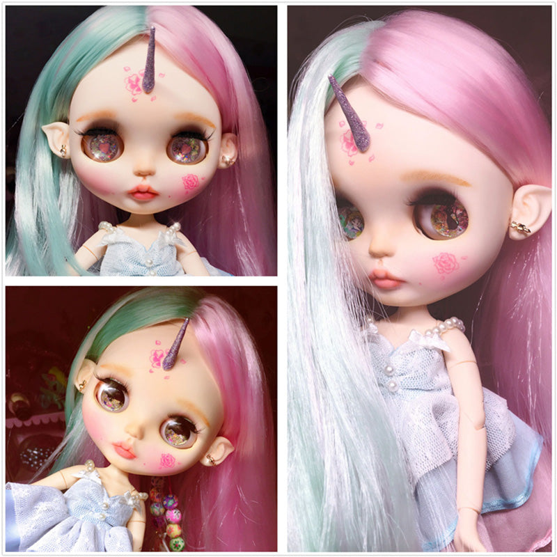 factory blyth doll Pink Mix mint green hair normal/joint body 1/6 30cm BL10174006