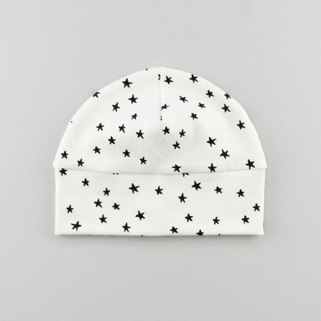 close up of the star baby hat