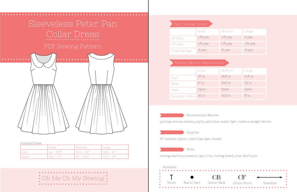 Sleeveless Peter Pan Collar Dress Pattern
