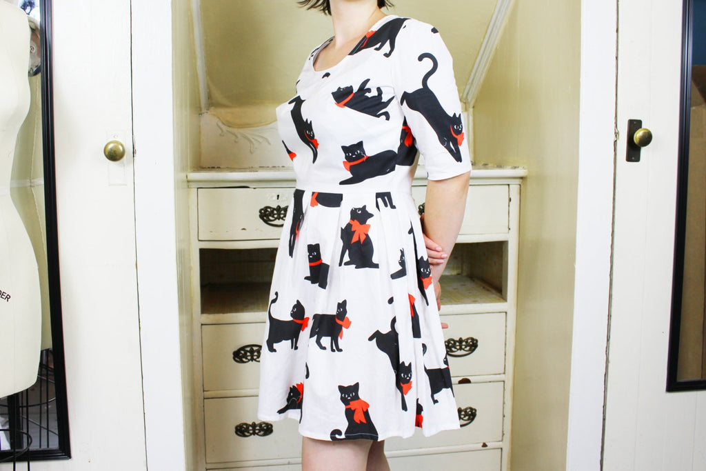 Three Quarter Sleeve Dress Pattern