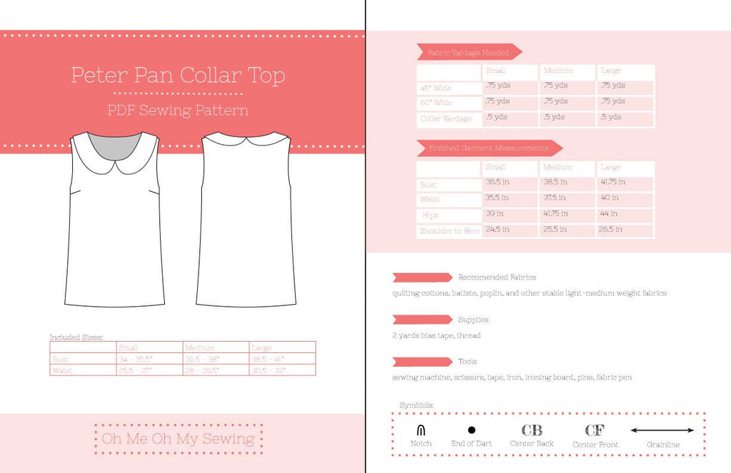 Peter Pan Collar Top Pattern