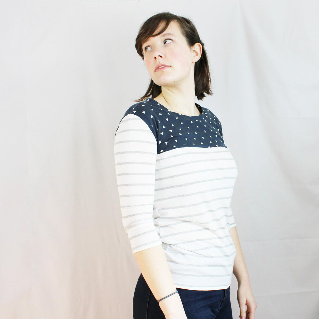 3/4 Sleeve Knit Yoke Tee Pattern