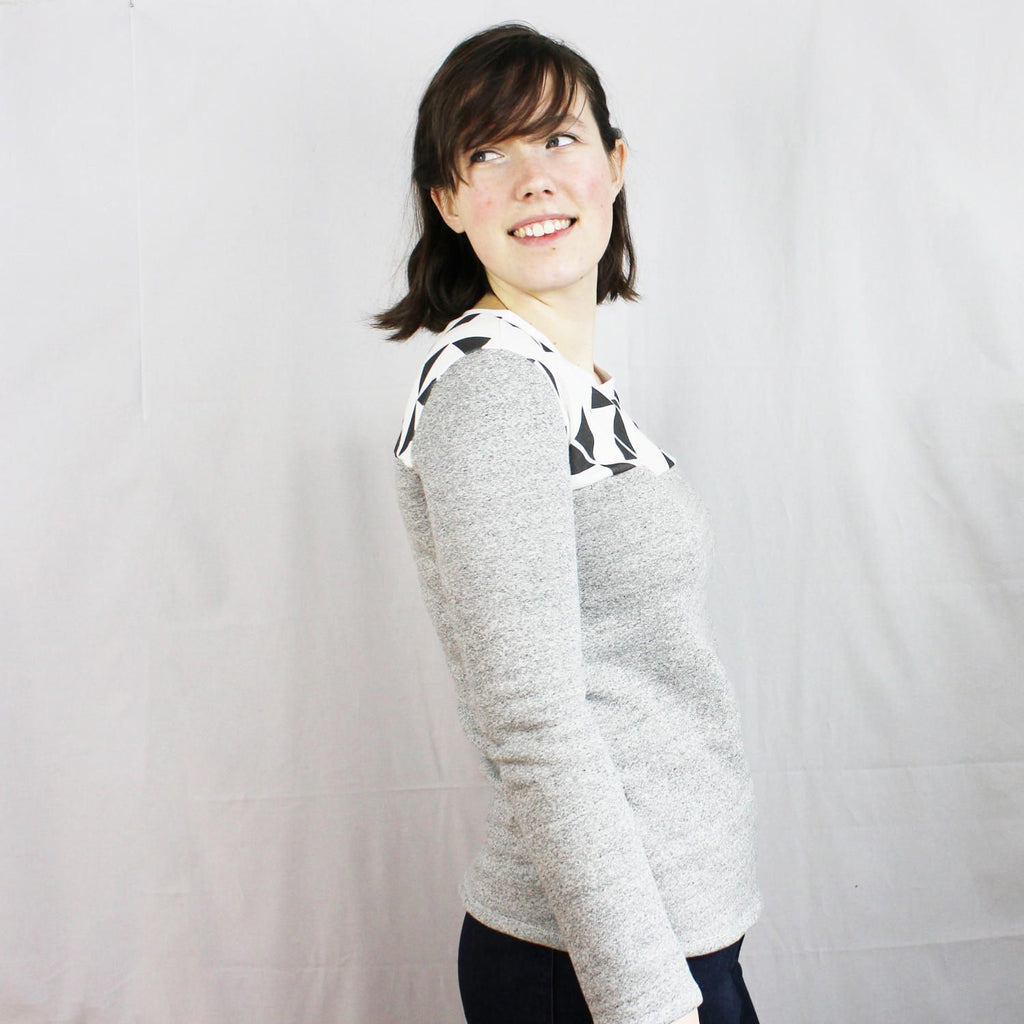 Long Sleeve Knit Yoke Tee Pattern