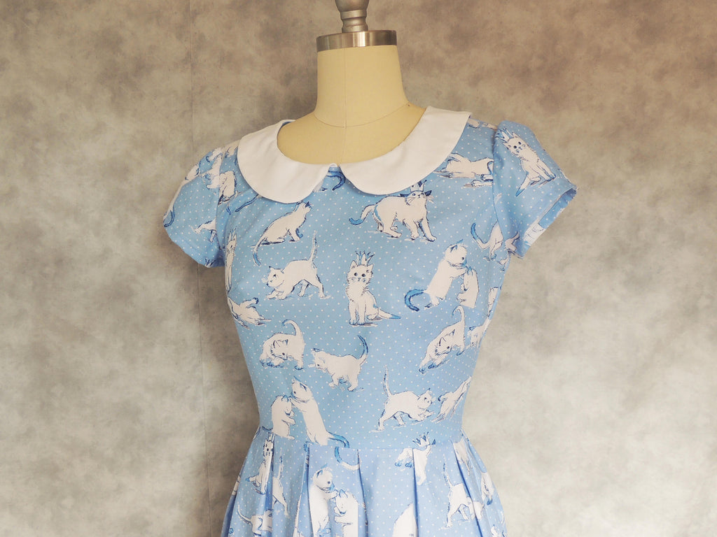 Pan Collar Short Sleeve Dress Pattern