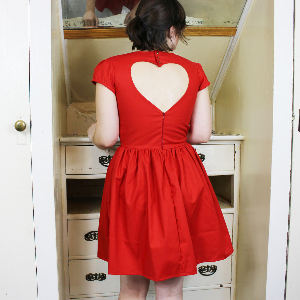 Heart Cut Out Dress Pattern