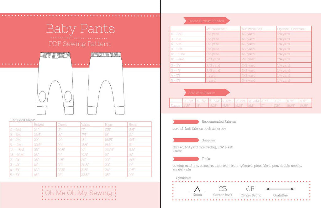 the baby pants pdf sewing pattern