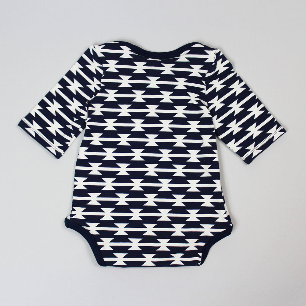 Back Of Navy Print Onesie Sewing Pattern
