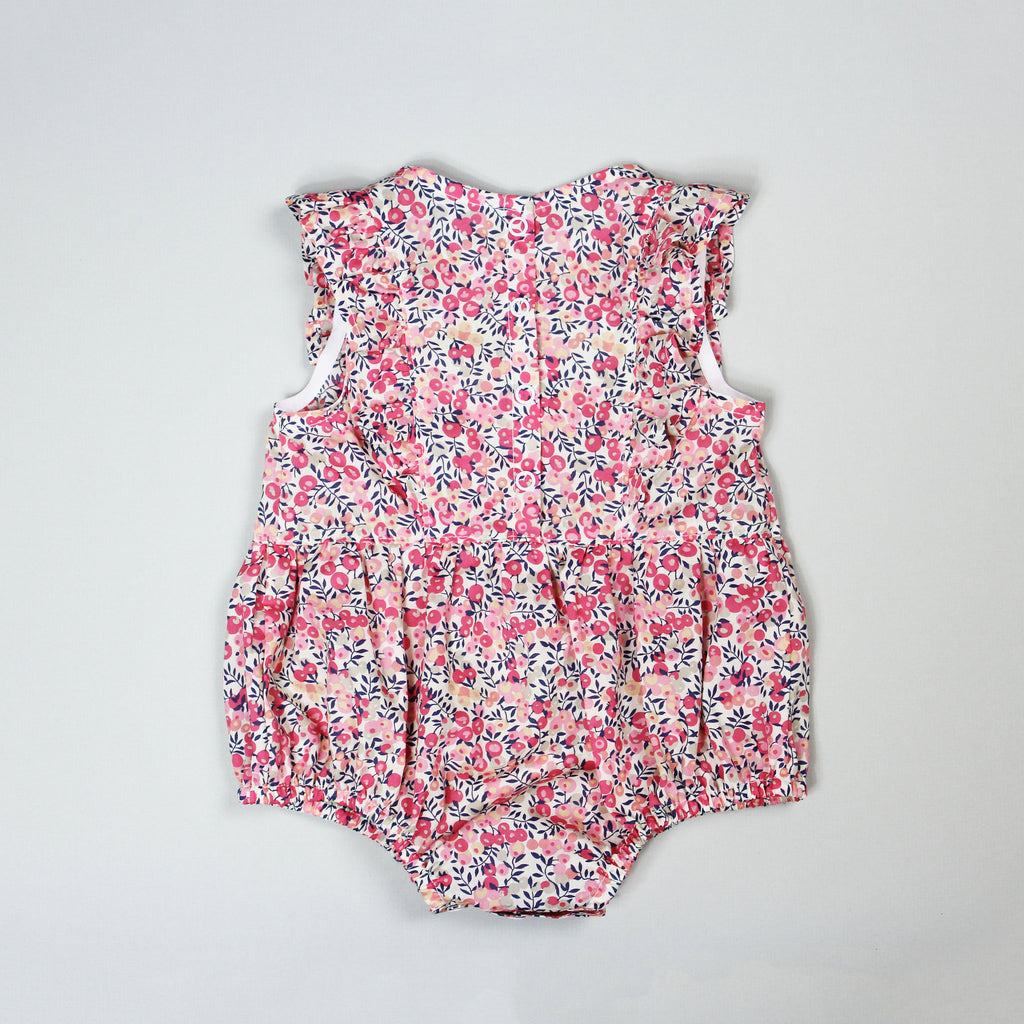Ruffle Romper Back In Pink Liberty Of London Fabric