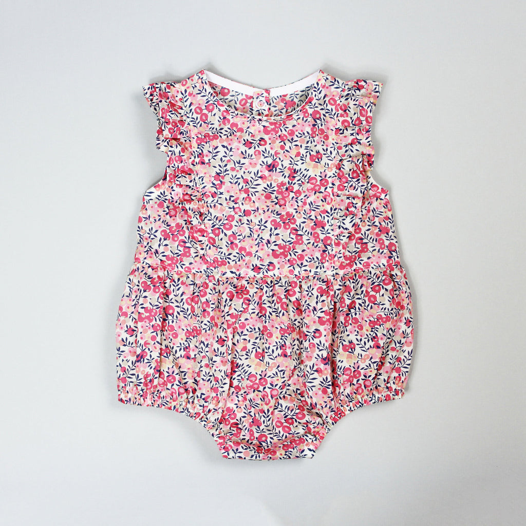 Ruffle Romper Sewing Pattern in Liberty of London Fabric