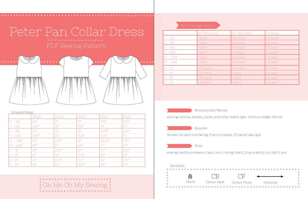 The Peter Pan Collar PDF Sewing Pattern