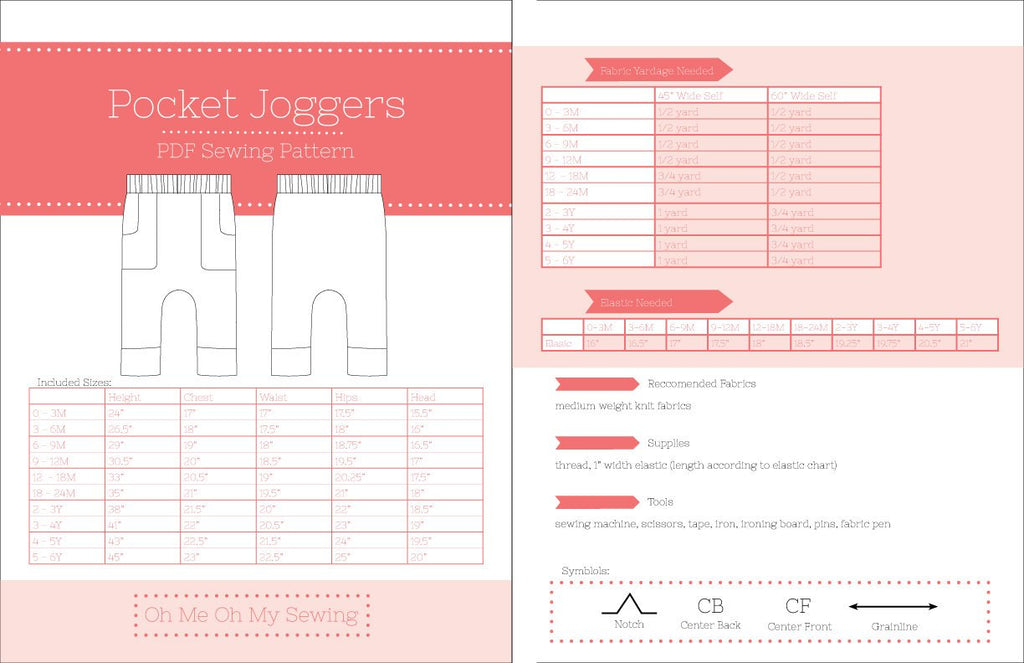 the pocket jogger pdf sewing pattern