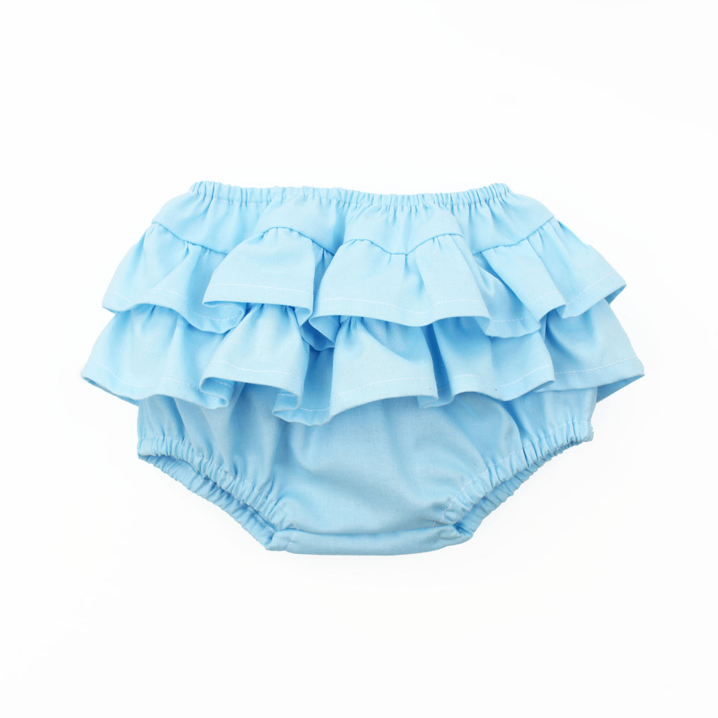 blue ruffle baby bloomer sewing pattern