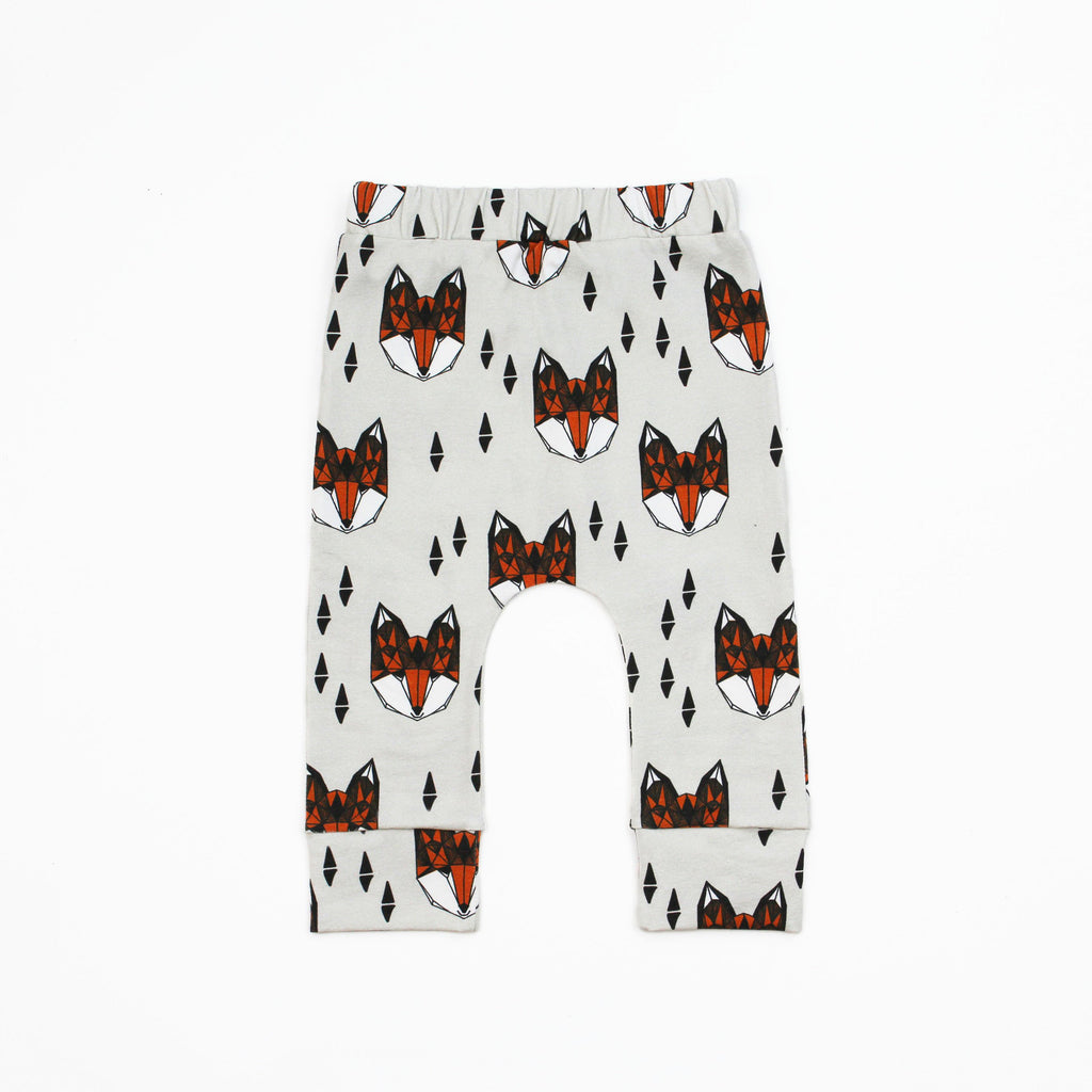 fox print baby legging pdf sewing pattern