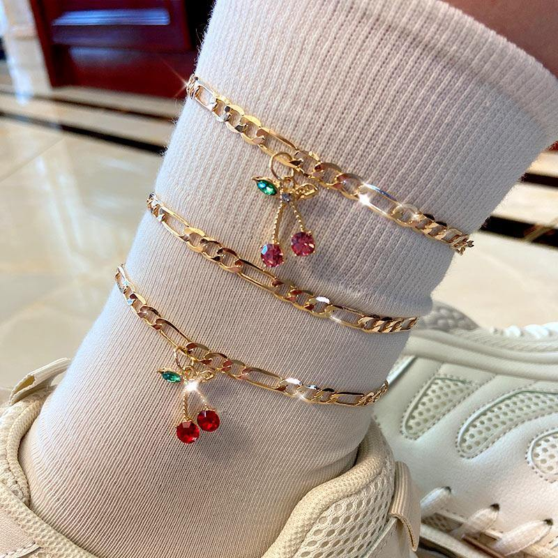 2-piece cherry anklet set - Trill Angelz
