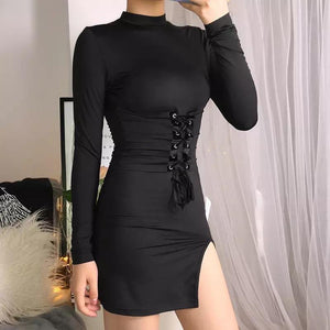 Black corset detail mini dress - Trill Angelz