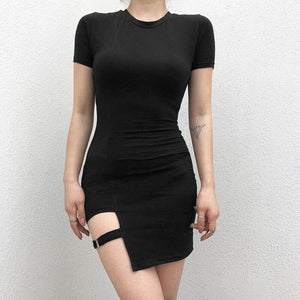 Black cut-out bodycon dress - Trill Angelz