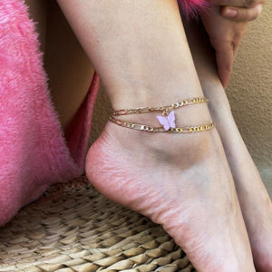 Butterfly figaro chain anklet - Trill Angelz