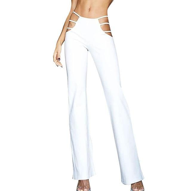 Cut-out bell bottom pants - Trill Angelz