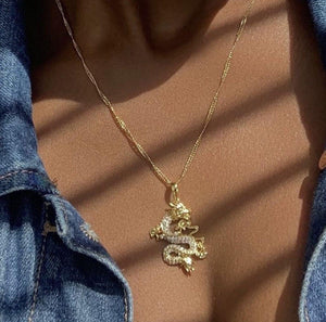 Dragon pendant necklace - Trill Angelz