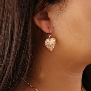 Heart lock earrings - Trill Angelz