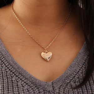 Heart lock pendant necklace - Trill Angelz