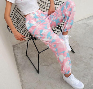 Pastel Camo pants - Trill Angelz