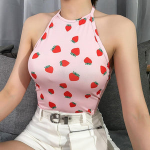 Strawberry halter neck - Trill Angelz