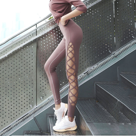 Nice Criss Cross on the side Support Leggings - S/M/L/XL