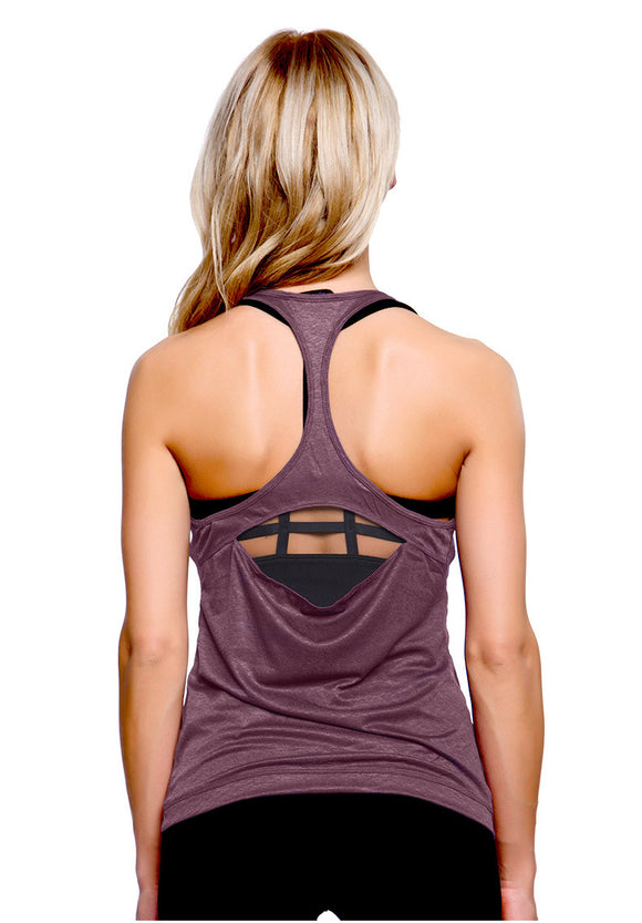 Backless Haut Court  Fitness Top - 4 Colors Available - S/M/L/XL
